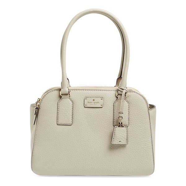 KATE SPADE NEW YORK Kendall court - Richly grained leather defines the structured,...