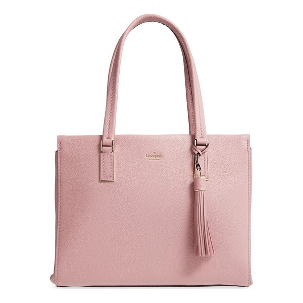 KATE SPADE NEW YORK kingston drive - This wear-with-anything, pebbled-leather satchel-complete...