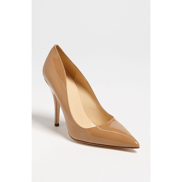 KATE SPADE NEW YORK 'licorice too' pump - A low-cut topline livens up a pretty pump finished with a