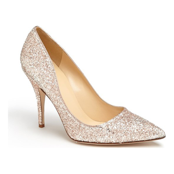 KATE SPADE NEW YORK licorice too pump - A low-cut topline livens up a pretty pump finished with a...