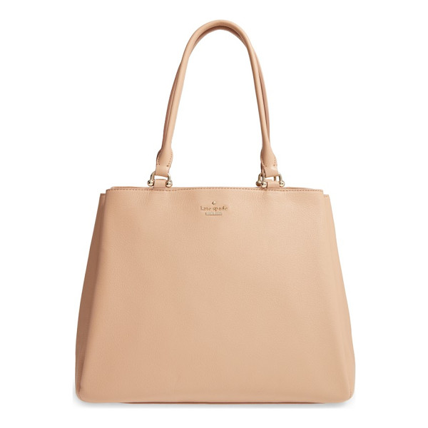 KATE SPADE NEW YORK lombard street neve leather tote - Minimal on the outside, maximum on the inside: with its...
