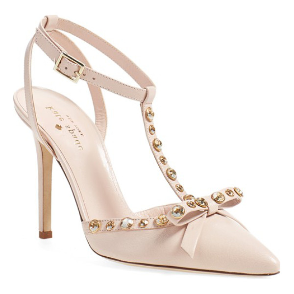 KATE SPADE NEW YORK 'lydia' genuine calf hair pump - Polished crystals illuminate the sophisticated profile of a...