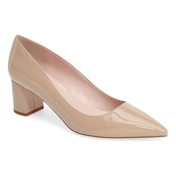 KATE SPADE NEW YORK milan pump - A wrapped block heel elevates a sophisticated Italian pump