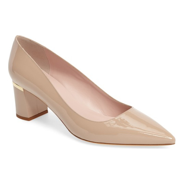 KATE SPADE NEW YORK milan pump - A wrapped block heel elevates a sophisticated Italian pump...