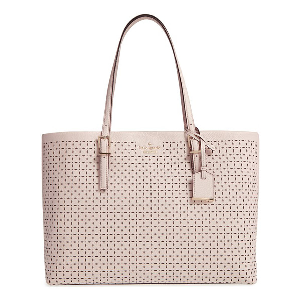 KATE SPADE NEW YORK Milton lane - Perforated pebbled leather lends a fresh look to a chic,...