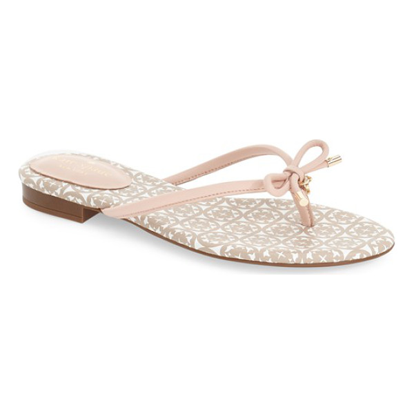 KATE SPADE NEW YORK mistic sandal - Gleaming goldtone hardware accents the slim, signature kate...