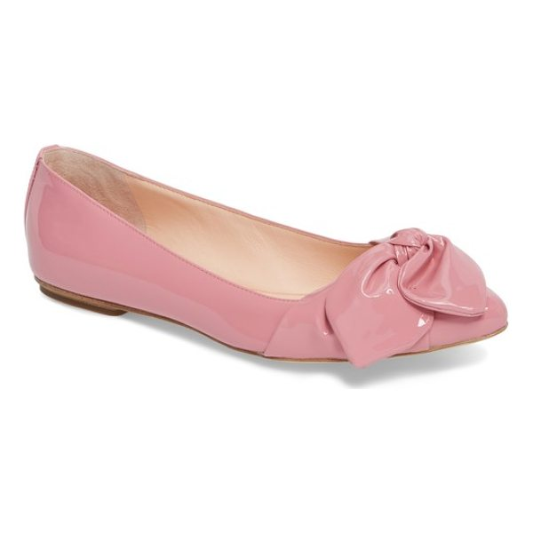 KATE SPADE NEW YORK nancy bow flat - A casually knotted bow wraps the pointed toe of a...