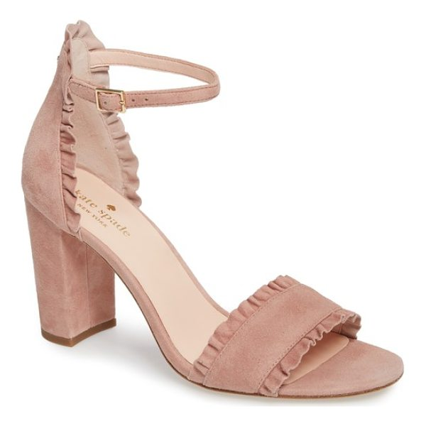 KATE SPADE NEW YORK odele ruffle sandal - Soft ruffles frill the straps and heel of a decidedly...