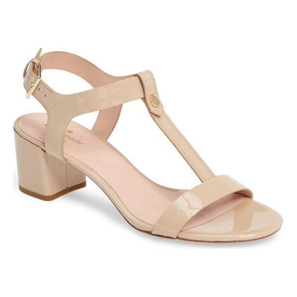 KATE SPADE NEW YORK panama sandal - Glossy patent leather and a chic (and walkable) block heel...