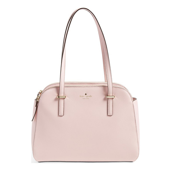 KATE SPADE NEW YORK Small elissa tote - Clean curves characterize a vintage-chic tote cast in lush...