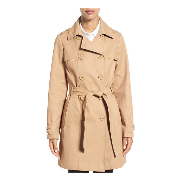 KATE SPADE NEW YORK trench coat - Myriad heritage details including gun flaps, storm flaps...