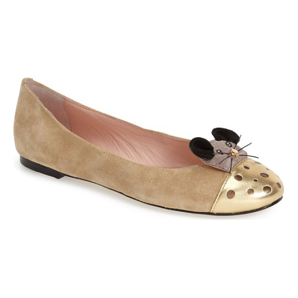 KATE SPADE NEW YORK walt skimmer flat - A curious mouse made with a signature spade nose gets his...