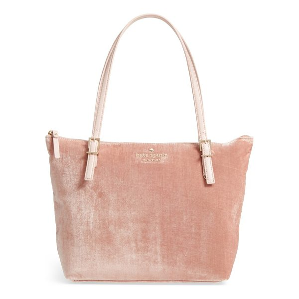 KATE SPADE NEW YORK watson lane small maya velvet tote - Trend-forward velvet blended with silk threads lends a...