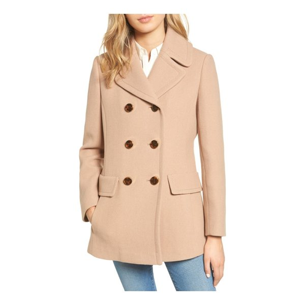 KATE SPADE NEW YORK wool blend peacoat - Ideal for autumnal strolls with dry leaves under your feet,...
