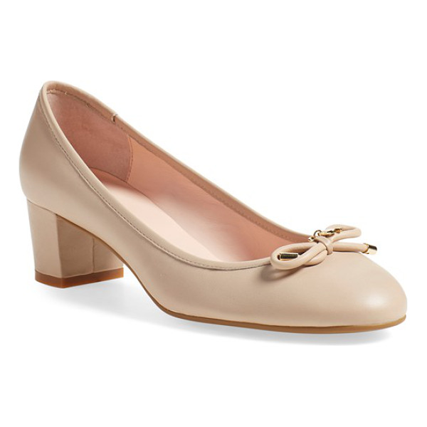 KATE SPADE NEW YORK 'yanna' almond toe pump - Feminine and refined, this block-heel pump takes its...