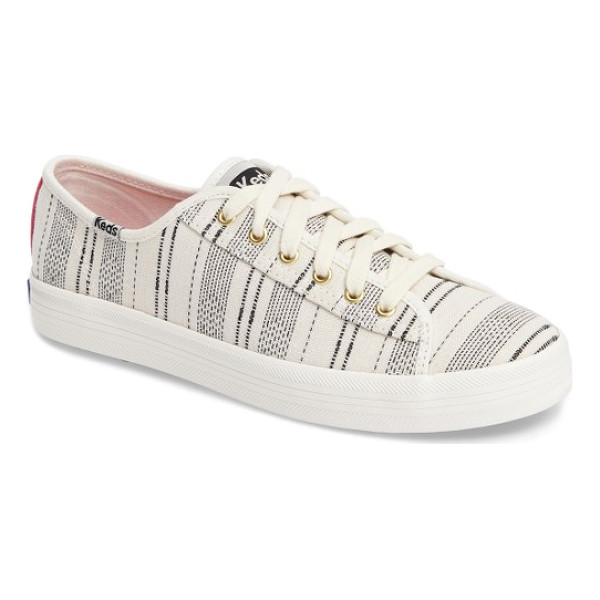 KEDS keds kickstart baja stripe sneaker - Globally inspired stripes update a classic low-top Keds...