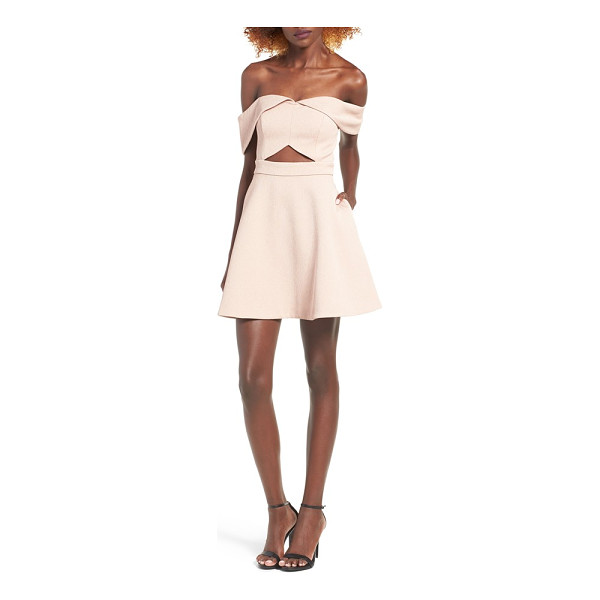 KEEPSAKE apollo minidress - Draped at the neckline and cutout at the waist, this...