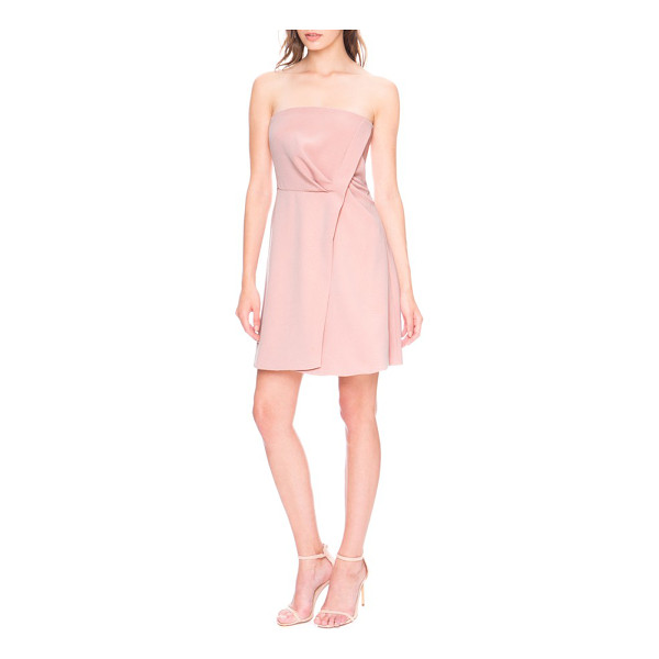 KEEPSAKE come apart fit & flare minidress - A simple twist adds elegant drape to a strapless minidress...