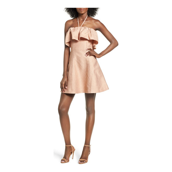 KEEPSAKE magnolia minidress - The kind of mini that's best revealed with a little spin,...