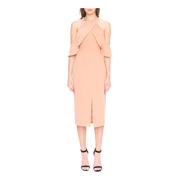 KEEPSAKE 'much more' cold shoulder midi dress - An elegant midi dress in the softest shade of dusty rose...