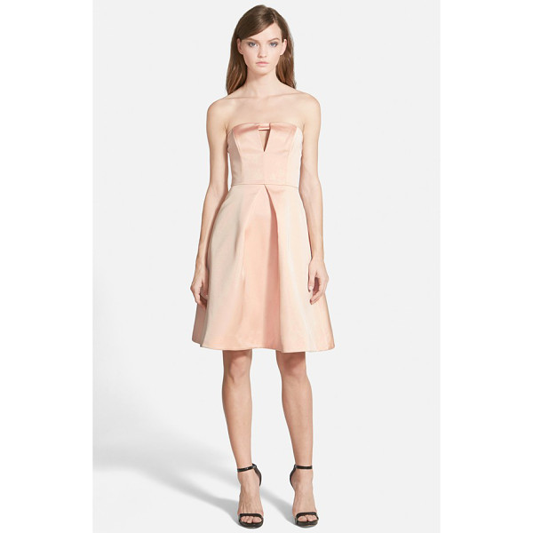 KEEPSAKE to the point strapless fit & flare dress - A slight keyhole opening offers a subtle flash of skin at...
