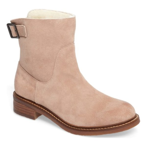 KELSI DAGGER BROOKLYN clay bootie - This sweet and simple bootie lined with cozy faux fur is...