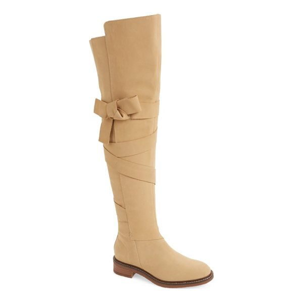 KELSI DAGGER BROOKLYN colby over the knee boot - Wide ties that finish in a knotted bow wrap the split shaft...