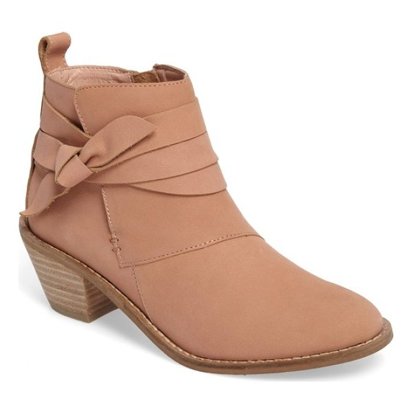 KELSI DAGGER BROOKLYN kingston bootie - Slim straps wrap around the ankle and are tied into a sweet...