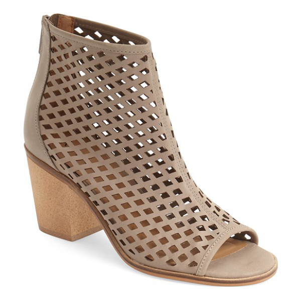 KELSI DAGGER BROOKLYN 'kyoto' open toe bootie - Geometric cutouts intensify the modern allure of an...