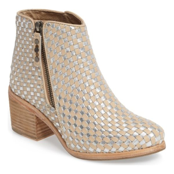 KELSI DAGGER BROOKLYN woven bootie - A woven upper lends depth and texture to a chic leather...
