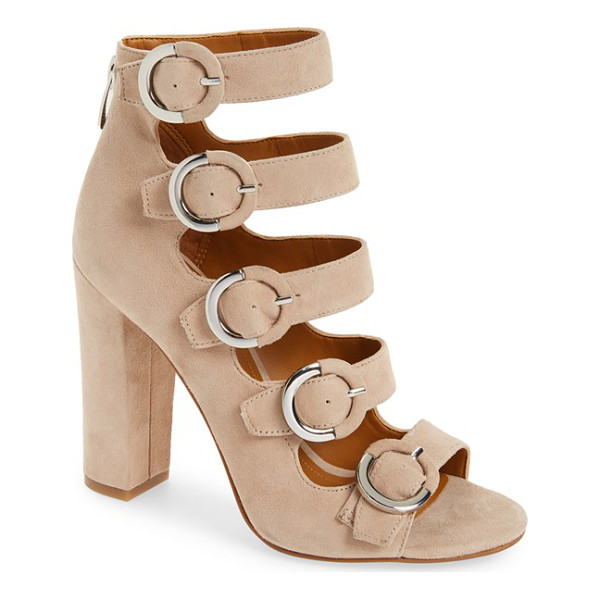 KENDALL + KYLIE evie buckle sandal - Round buckle details modernize the flawless silhouette of a...