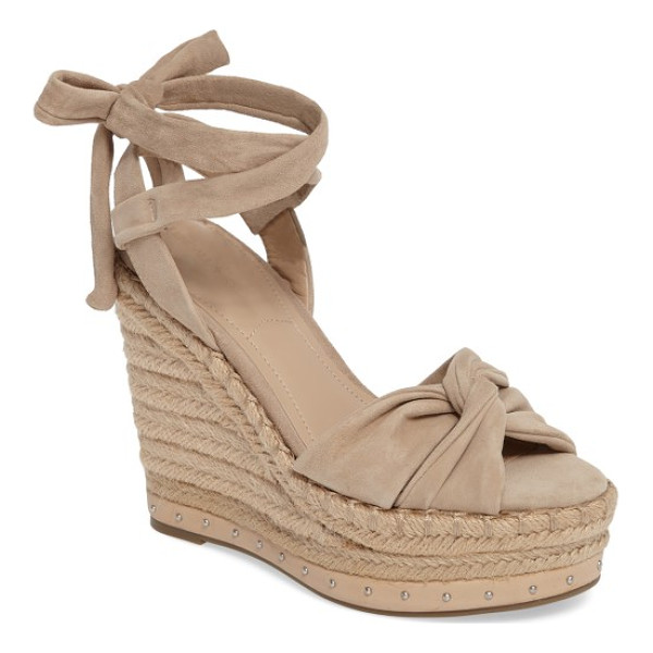 KENDALL + KYLIE grayce espadrille wedge - Softly knotted straps shape the toe of a trend-savvy sandal...