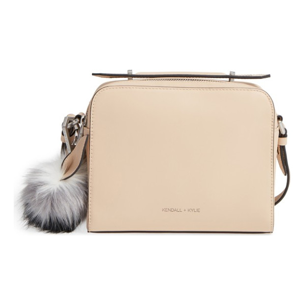KENDALL + KYLIE lucy leather crossbody bag - A vintage-inspired camera bag with an optional, adjustable
