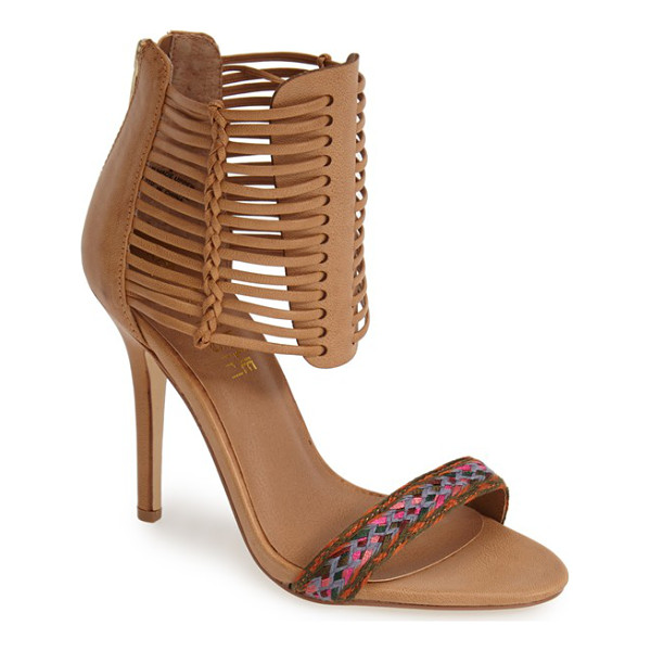 KENDALL + KYLIE madden girl demie sandal - A bright, woven toe strap draws attention to your latest...