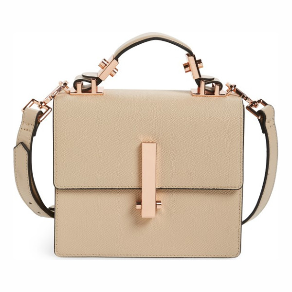 KENDALL + KYLIE mini minato leather top handle satchel - A boxy silhouette and richly pebbled leather define a chic...