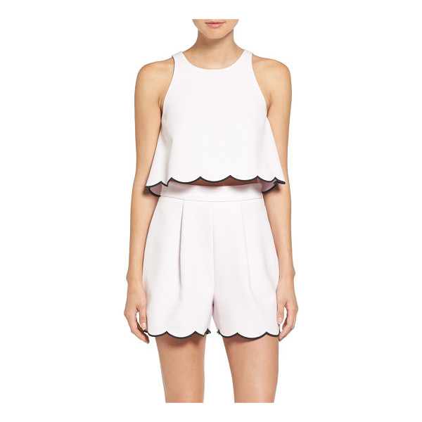 KENDALL + KYLIE scallop hem crop top - A flared silhouette adds flattering volume to this darling...
