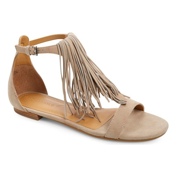 KENDALL + KYLIE tessa fringe sandal - Long, soft fringe dusts the top of your foot in a flat...