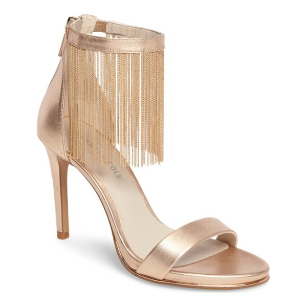 KENNETH COLE bettina chain fringe sandal - Swingy chain fringe brushes the top of your foot and adds...
