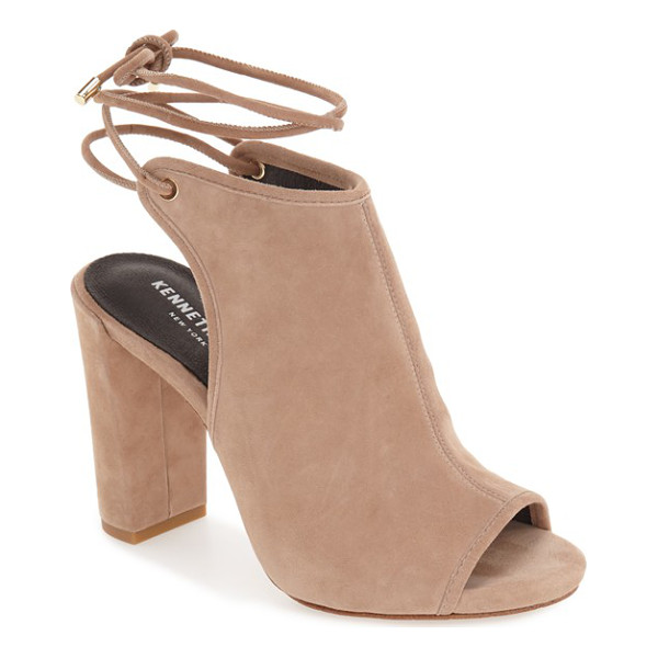 KENNETH COLE darla block heel sandal - A smooth suede vamp heightens the contemporary...