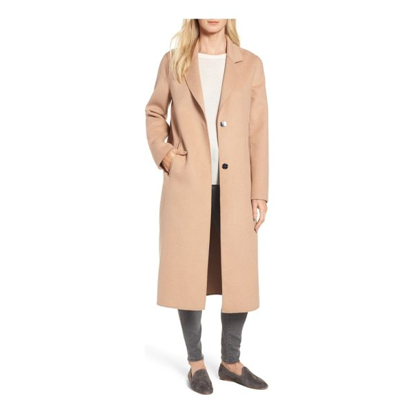 KENNETH COLE double face wool blend long coat - Unfettered design brings an enduring and elegant look to a...