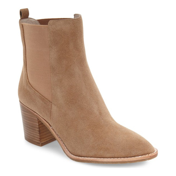 KENNETH COLE quinley water resistant chelsea boot - A dramatic pointy toe echoes the geometric shapes of the...