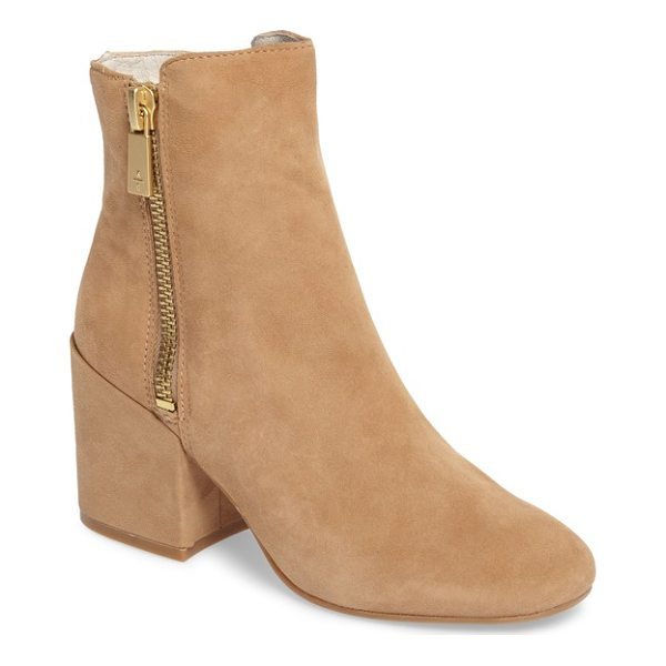 KENNETH COLE rima bootie - A stepped topline balances the slightly oversized block...