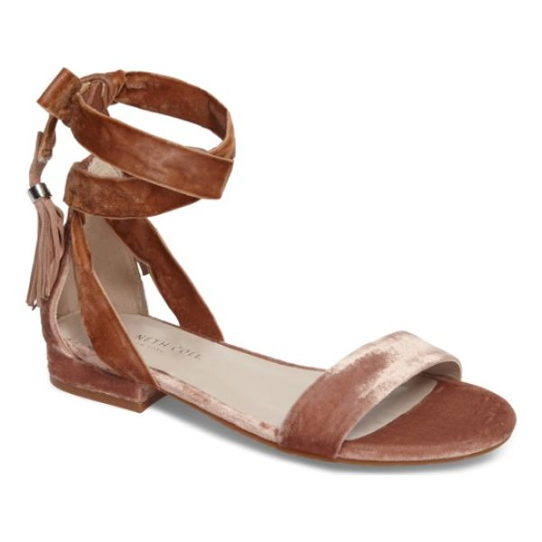 KENNETH COLE valen tassel lace-up sandal - Welcome warmer weather with this fun, flirty sandal-the...