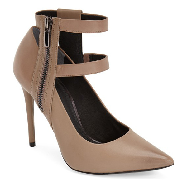 KENNETH COLE wren ankle strap pump - Double ankle straps lend a poised, modern touch to a...
