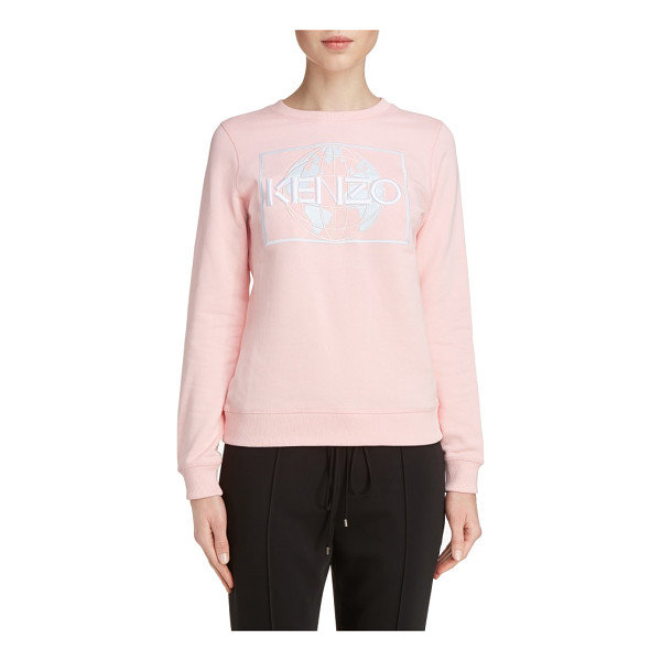 KENZO embroidered cotton sweatshirt - As part of KENZO's new mission to help protect the planet,...