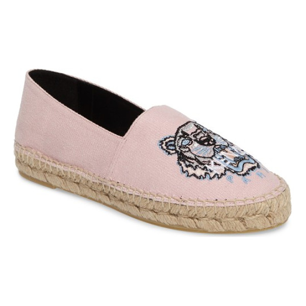 KENZO tiger logo embroidered espadrille - The canvas espadrille goes from cool classic to fiercely...