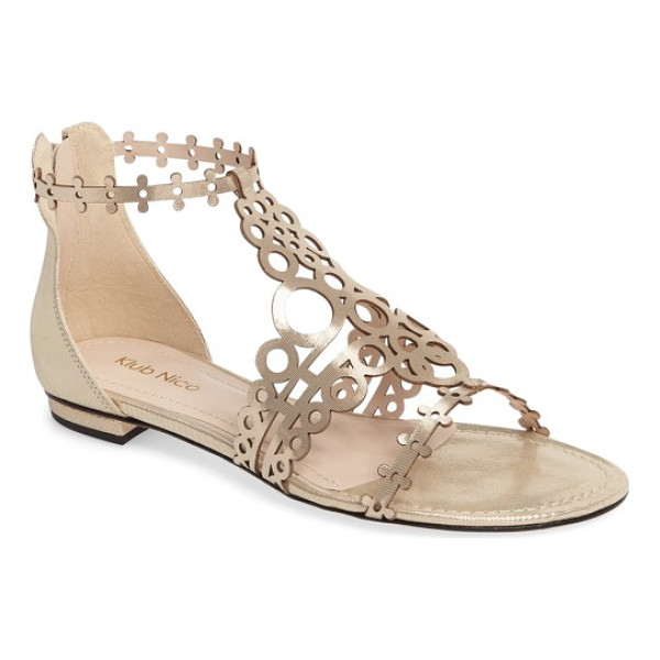 KLUB NICO joellen sandal - Circular laser cutouts create a striking latticed cage for