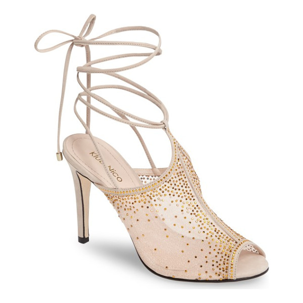 KLUB NICO margeaux embellished wraparound sandal - Gradient clusters of tiny crystals create an ombre effect...