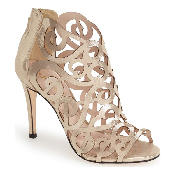 KLUB NICO 'marla' laser cutout peep toe bootie - Extravagant laser-cutout curlicues and scrolls define the