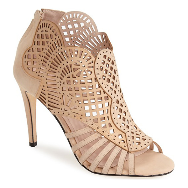 KLUB NICO 'mirelle' cutout bootie - Delicate laser-cut perforations dance across the